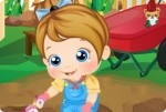 Baby Alice im Garten
