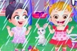 Baby Hazel im Regen