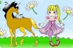 Pferdebild ausmalen