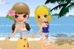 Schwestern am Strand